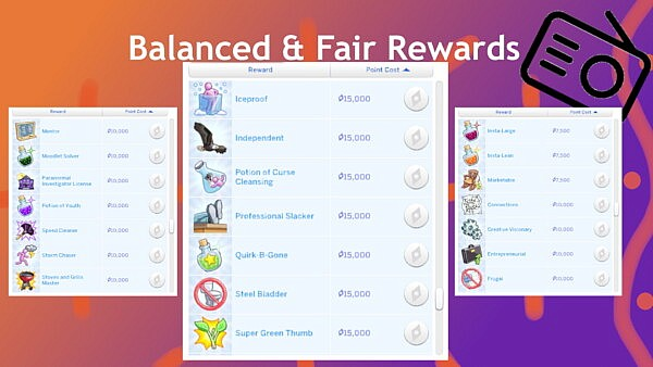 Balanced And Fair Reward Store Traits 2 by Radiophobe from Mod The Sims