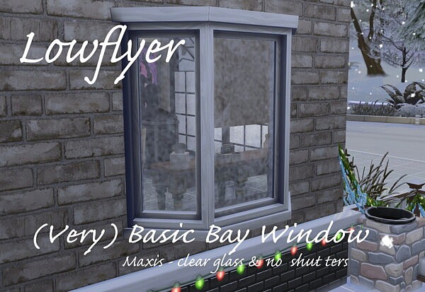 Basic Bay Window sims 4 cc