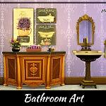 Bathroom Art sims4 cc