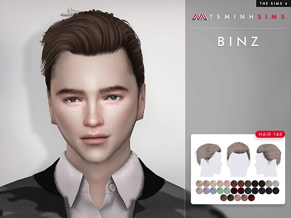 Binz Hairstyle 148 by TsminhSims from TSR