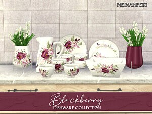 Blackberry Dishware sims 4 cc