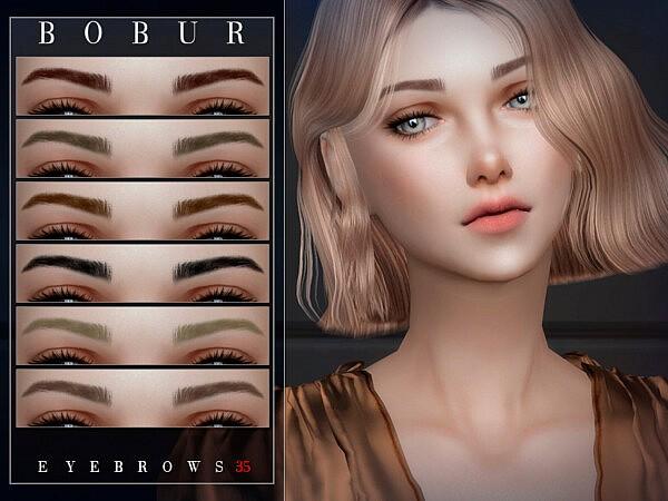 Bobur Eyebrows 35 sims 4 cc