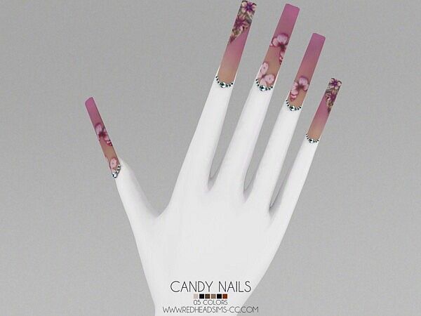 CANDY NAILS sims 4 cc
