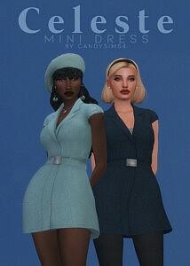 Celeste Mini Dress sims 4 cc