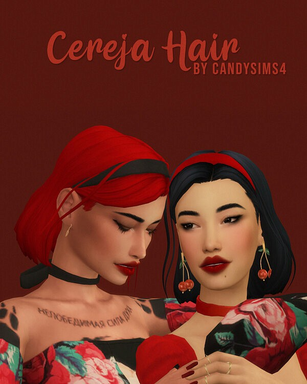 Cereja Hair from Candy Sims 4