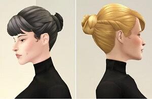 Chloe Bun Hair sims 4 cc