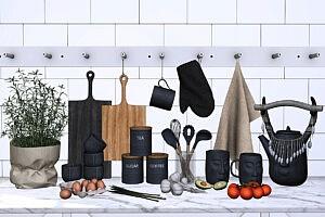 Claro Kitchen Decor sims 4 cc