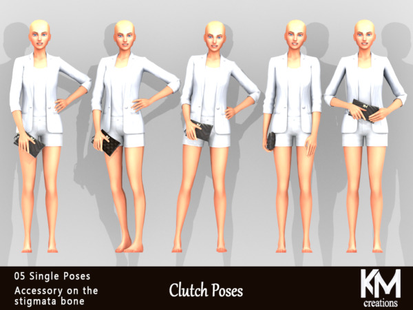 Clutch Poses sims 4 cc