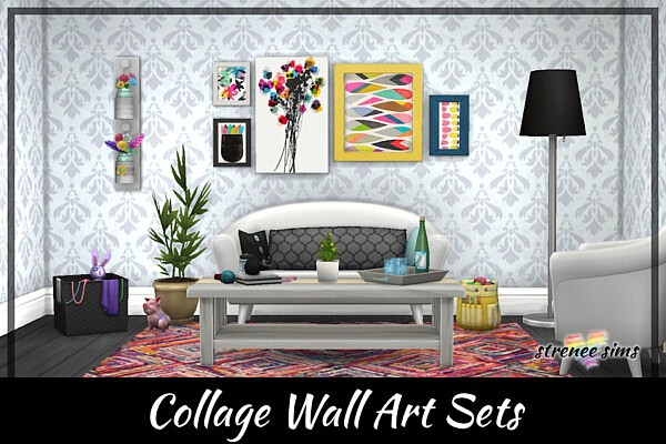 Collage Wall Art Sets from Strenee sims