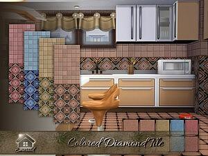 Colored Diamond Tile