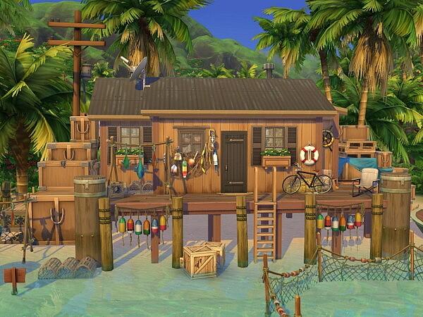 Cozy Fishing Cabin sims 4 cc