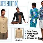 Cuffed Shirt M sims 4 cc