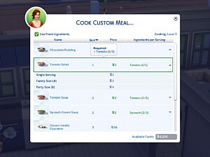 Custom Food Interactions Updated