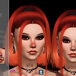 Cute Nose Blush V1 sims 4 cc