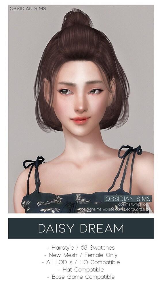 DAISY DREAM HAIRSTYLE sims 4 cc