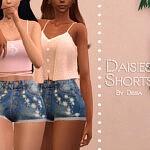 Daisies Shorts sims 4 cc