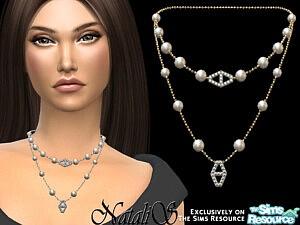 Diamond hexagon layered necklace sims 4 cc