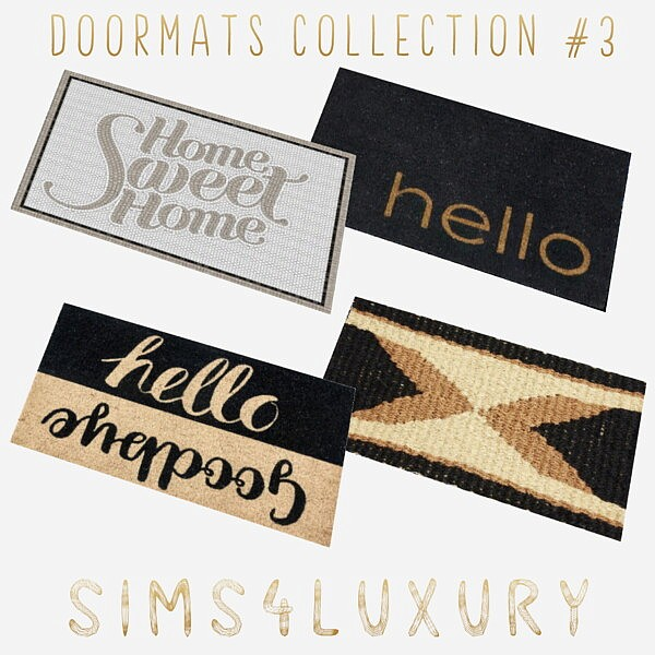 Doormats Collection 3 from Sims4Luxury