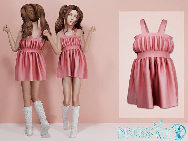 Dress K01 sims 4 cc