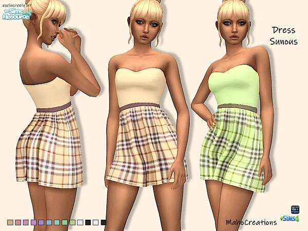 Dress Sunous sims 4 cc