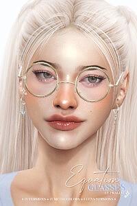 EQUATION Glasses sims 4 cc