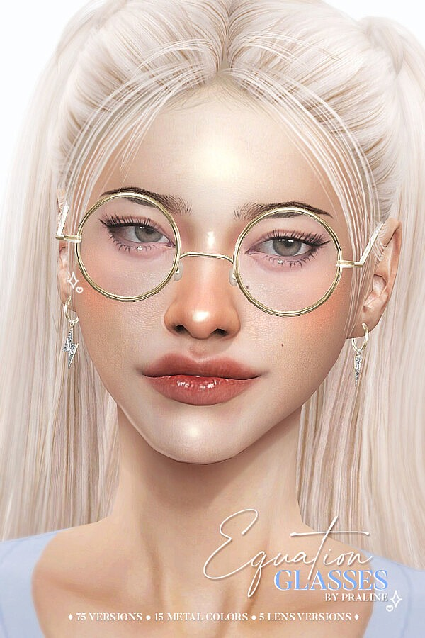 EQUATION Glasses from Praline Sims