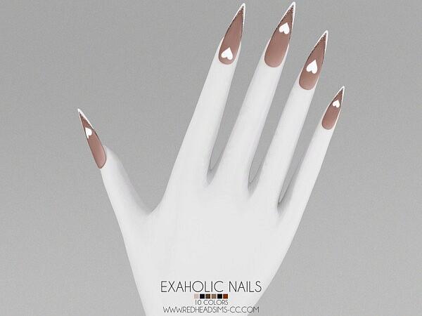 EXAHOLIC NAILS sims 4 cc