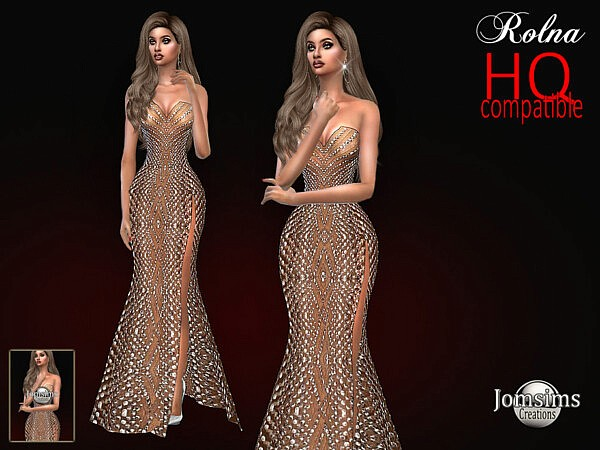 Evening Rolna dress by jomsims from TSR