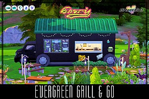 Evergreen Grill and Go sims 4 cc