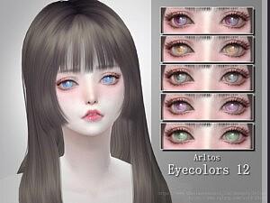 EyeColors 12 sims 4 cc