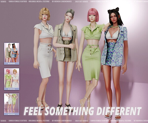 FEEL SOMETHING DIFFERENT SET sims 4 cc