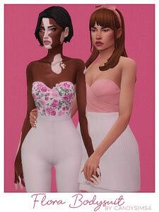 Flora Bodysuit sims 4 cc
