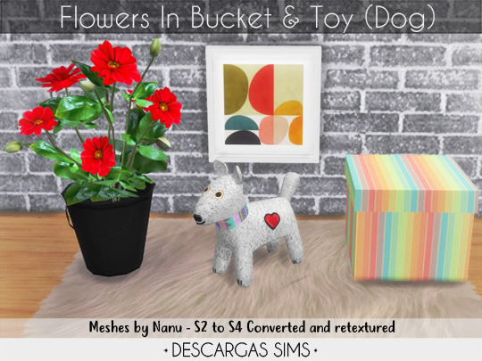 Flowers and Toy sims 4 cc