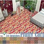 Fluffy Carpets sims 4 cc