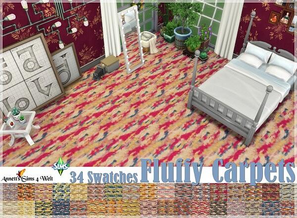 Fluffy Carpets from Annett`s Sims 4 Welt