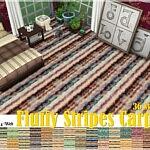 Fluffy Stripes Carpets sims 4 cc