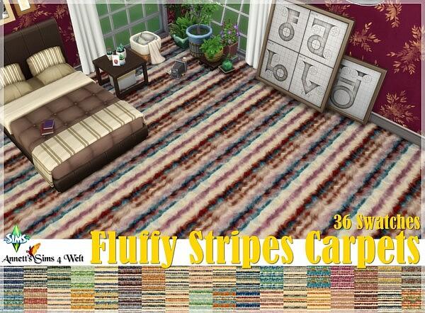 Fluffy Stripes Carpets from Annett`s Sims 4 Welt