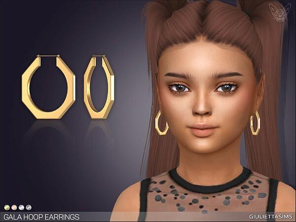 Gala Hoop Earrings KG by feyona from TSR
