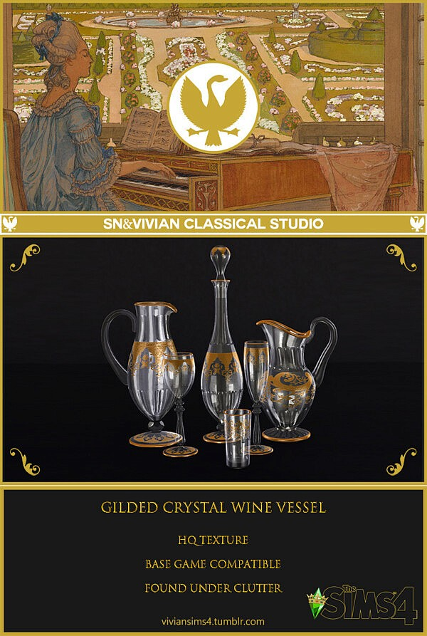 Gilded crystal wine vessel sims 4 cc