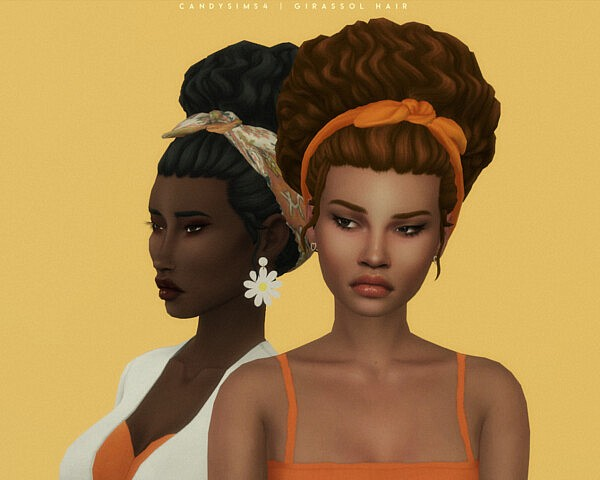 Girassol Hair from Candy Sims 4