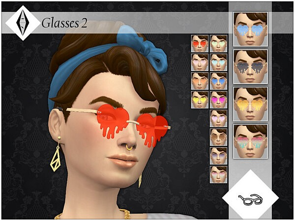 Glasses 2 sims 4 cc