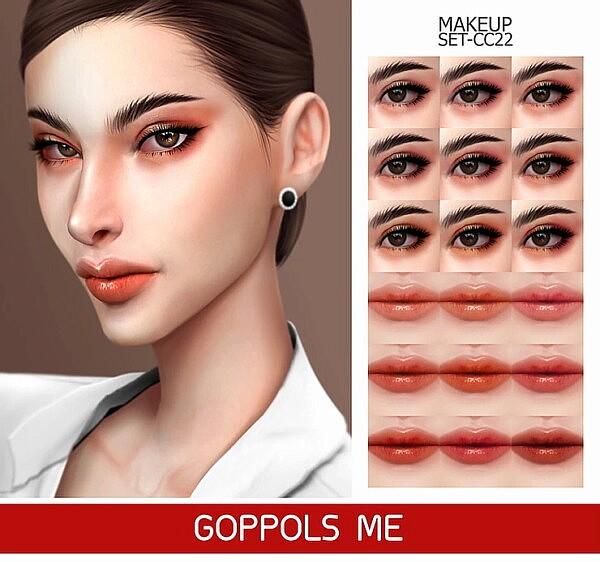 Gold Makeup Set C22 sims 4 cc