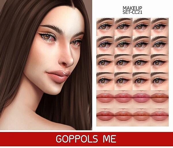 Gold Makeup Set CC21 sims 4 cc