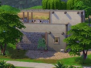 Gournia House sims 4 cc
