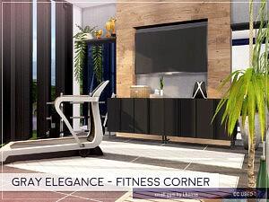 Gray Elegance Fitness Corner sims 4 cc