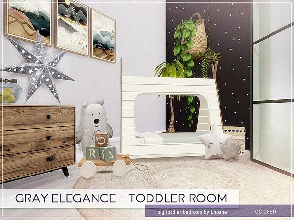 Gray Elegance Toddler Room sims 4 cc
