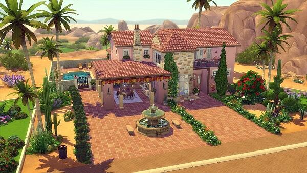 Hacienda Villa sims 4 cc