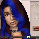 Horizontal Lip Piercing sims 4 cc