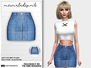 Jean Mini Skirt MC234