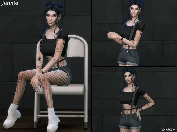 Jennie Pose Pack sims 4 cc